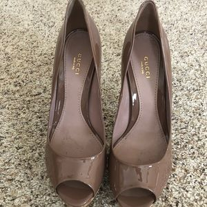 Women's Gucci Patent Leather Heel